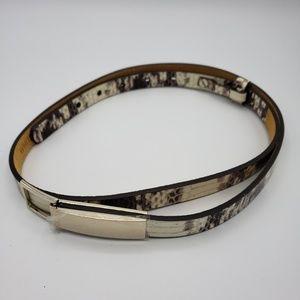 🔥SALE🔥 WHBM Python Snake Leather Hip Fit Belt S